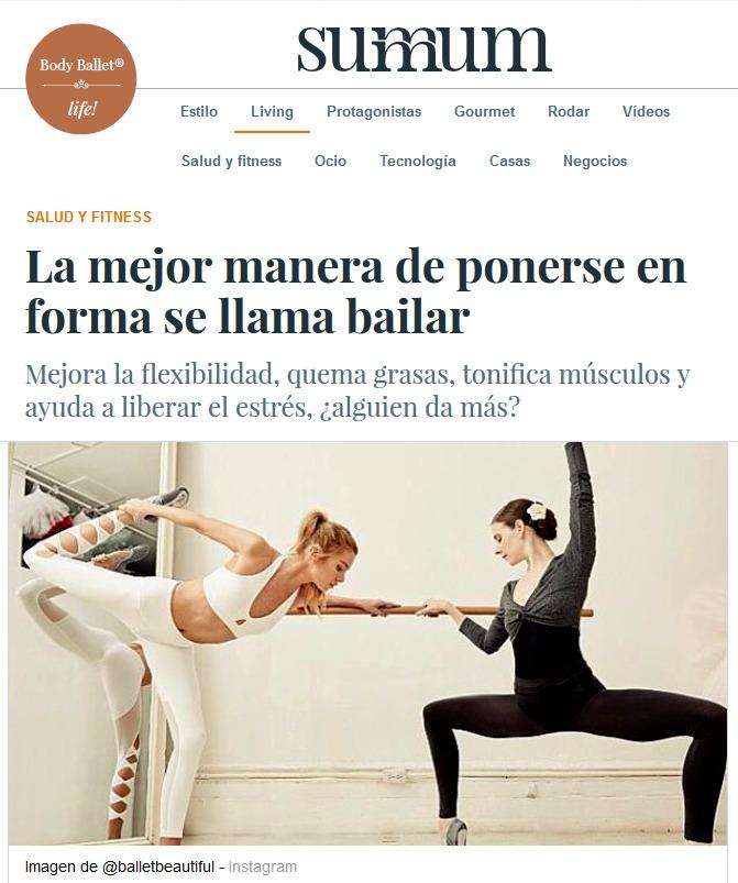 Body Ballet® en la revista Summum