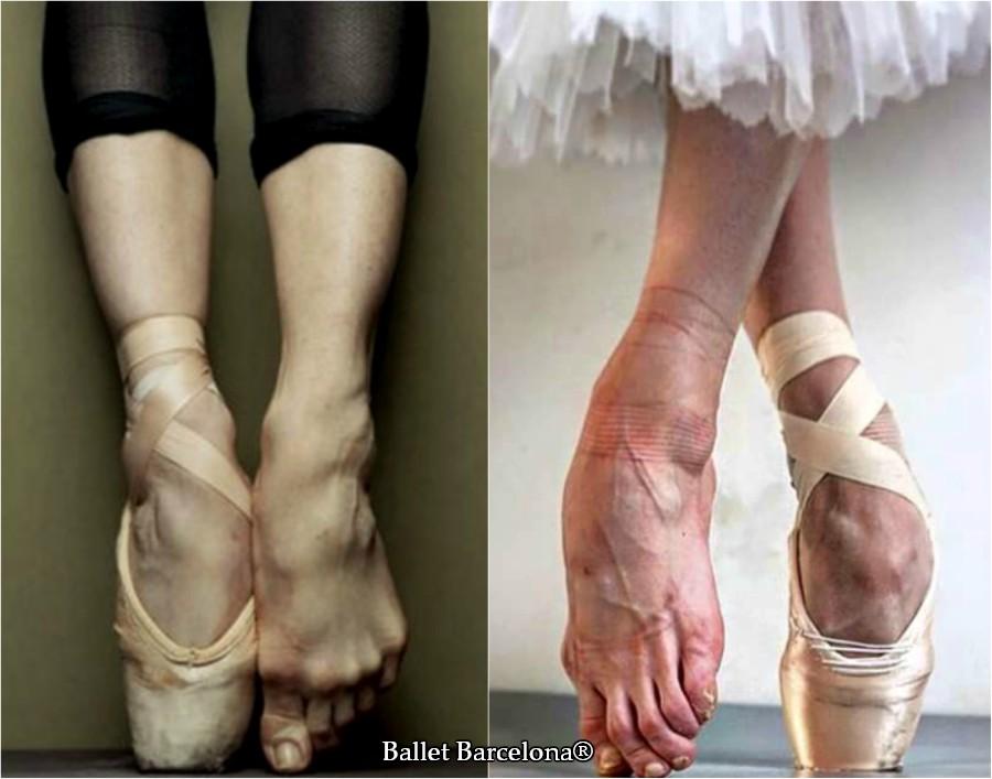 Pies de bailarina de ballet clásico